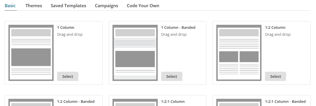 Campaign Builder - HTML MailChimp