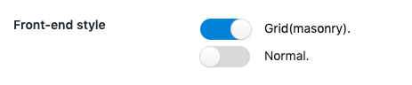 デザインの選択画面
